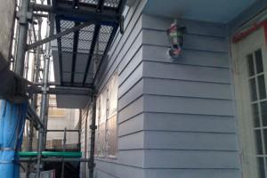 軒天塗装と、外壁の下塗-さいたま市北区のS様邸