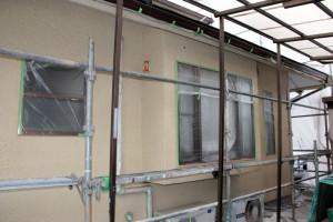 軒天の塗装-さいたま市北区、K様邸の屋根塗装、外壁塗装