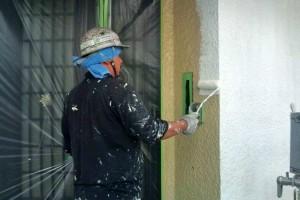 遮熱塗装と外壁の下塗-さいたま市北区、K様邸の屋根塗装、外壁塗装