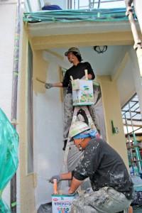 屋根塗装、外壁塗装、タスペーサーの取付-さいたま市北区のK様邸