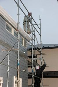 塗装のための足場を解体-さいたま市北区のS様邸