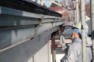 樋の塗装-さいたま市緑区、K様邸(屋根塗装、外壁塗装)