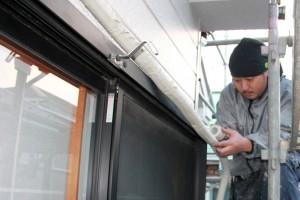 ベランダ防水塗装が完了-さいたま市緑区、K様邸(屋根塗装、外壁塗装)