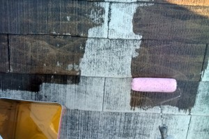 屋根塗装、外壁塗装に着手-さいたま市緑区のK様邸