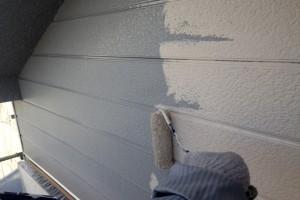 屋根塗装、外壁塗装が進捗-さいたま市緑区のK様邸