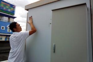 塗装工事が完了-さいたま市岩槻区、ホテルの電機設備