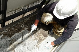 屋根塗装、外壁塗装のための高圧洗浄-さいたま市北区、Kアパート