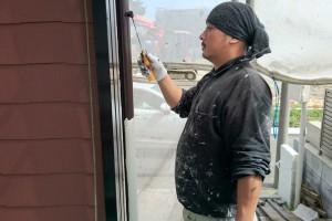 屋根塗装が完了-さいたま市北区、Kアパート