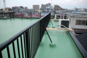 屋上防水トップコートのための図面受け取り-さいたま市北区、Nビル