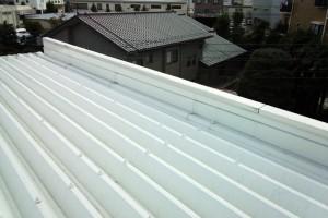 屋根の雨漏り改修方法-さいたま市北区、物流センター
