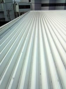 折板屋根の雨もり補修、見積説明-さいたま市北区、U物流センター