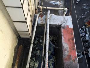 雨漏りの原因調査-さいたま市大宮区Tビル
