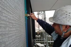 屋根シーラー塗装、外壁欠損補修-さいたま市南区K様邸