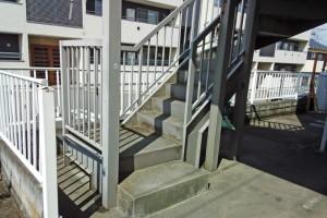 アパートの鉄骨階段塗装のご依頼-さいたま市北区