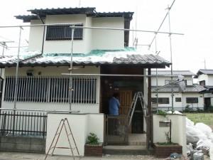 鎧戸塗装-伊奈町、F様邸(外壁塗装、クラック補修、木部塗装)
