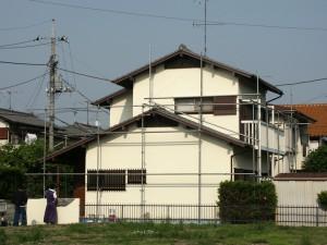 足場解体-伊奈町F、様邸(外壁塗装、クラック補修、木部塗装)