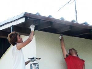 木部塗装-伊奈町、F様邸(外壁塗装、クラック補修、木部塗装)