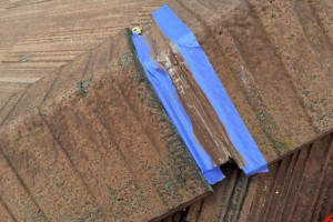 屋根の釘浮補修と塗装前のモール劣化部補修-さいたま市南区H様邸