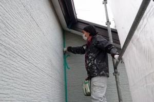 コーキングのための養生-さいたま市南区、KA様(外壁塗装、屋根塗装、コーキング打替)