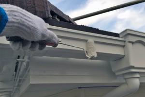 外壁補修、破風・鼻隠塗装と樋塗装-さいたま市南区H様邸