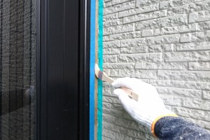 コーキングの第1弾-さいたま市南区、KA様(外壁塗装、屋根塗装、コーキング打替)