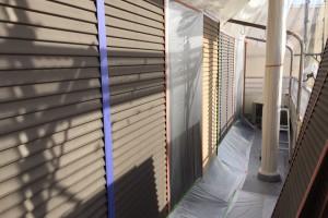 雨戸の塗装が完了-さいたま市南区H様邸