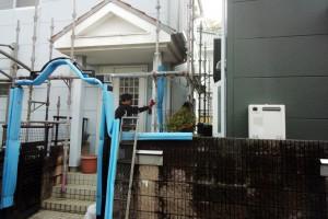 外壁塗装、屋根塗装が着工-さいたま市緑区SA様