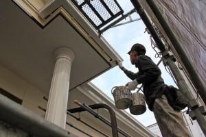 塗装が完了、コーキングの打替-さいたま市南区H様邸(外壁塗装、ベランダ防水塗装)