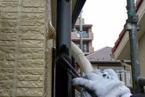 横樋塗装、鼻隠塗装-さいたま市南区、KA様(外壁塗装、屋根塗装、コーキング打替)