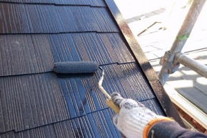 屋根塗装、樋塗装、霧除塗装-さいたま市南区、KA様(外壁塗装、屋根塗装、コーキング打替)