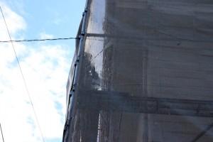 外壁の塗り変えのための高圧洗浄-さいたま市南区H様邸