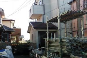 外壁塗装、屋根塗装のための足場設置-さいたま市南区、KA様