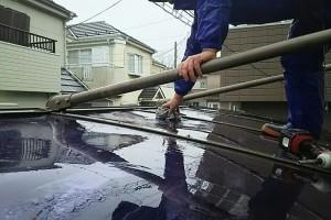 カーポートの庇の取付-さいたま市緑区SA様邸(屋根塗装、外壁塗装、ベランダ防水工事)