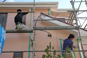 外壁のコーキング打替-さいたま市見沼区Y様(屋根塗装、外壁塗装、ベランダ防水塗装、コーキング打替)