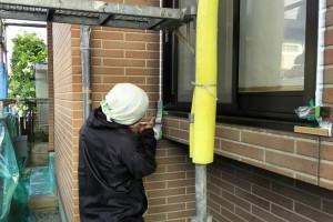 屋根塗装、軒天塗装-さいたま市見沼区、Y様邸(屋根塗装、外壁塗装、ベランダ防水工事)