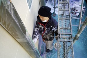 下屋根の板金の錆止めと塗装-さいたま市緑区SA様邸