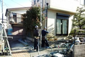 さいたま市緑区KA様邸で外壁塗装工事がスタート
