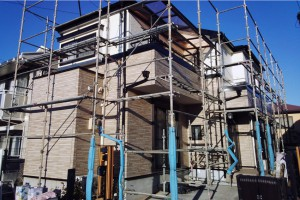 さいたま市中央区のSA様邸で塗装工程が完了