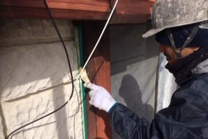さいたま市見沼区のY様邸で屋根の錆止め塗装と外壁の窓廻りのコーキング