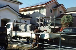 桶川市、A様邸の外壁塗装工事が着工