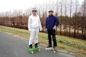 さいたま市彩湖周辺をインラインスケートで22km滑走