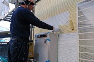 桶川市のA様邸で引き続き、外壁塗装と軒天塗装
