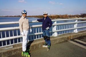 インラインスケートでさいたま市南区から西区まで23km滑走
