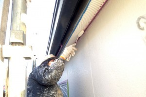 さいたま市南区のS様邸で、外壁塗装と軒天塗装