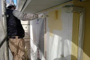 桶川市のA様邸で、外壁塗装