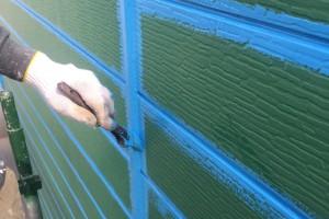 さいたま市北区でカーショップの外壁塗装のケレンとダメ込み