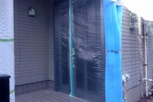 さいたま市見沼区のSA様邸で外壁塗装のための養生