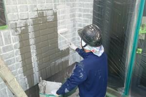 さいたま市見沼区のSA様邸で外壁塗装が3面下塗完了