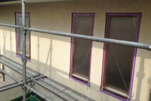 さいたま市桜区のE様邸で外壁塗装工事が着工
