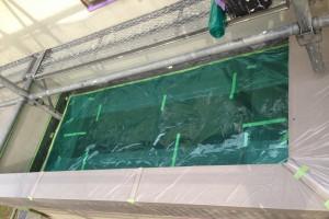 さいたま市桜区のE様邸で外壁塗装のための養生